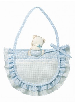 Fiocco nascita borsa